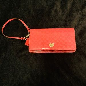 Coach wristlet cell phone case
